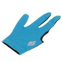 Nylon Three Finger Right Hand Snooker Billiard Cue Pool Glove, Blue