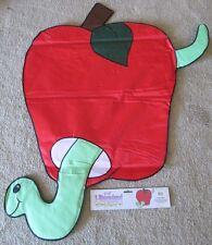 "34"" x 45""  3D Harvest Apple Green Worm Heavy Nylon Applique Large Banner Flag"
