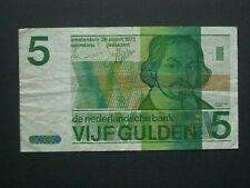 **** Crisp 1973 Netherlands 5 Gulden   'NVF'  Banknote