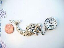 Lovely Art Deco Style-Mermaid Glass Dome Dollhouse Miniature Wall Clock Reg.$35