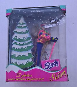 Vintage 90s Hasbro greek edition SINDY SKIING check cond of box UNUSED NOS