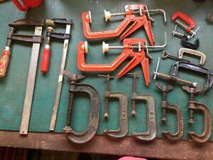 13 various clamps carpenters engineers fabricators engineering wood working
