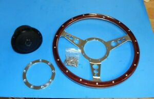"New 13"" Laminated Wood Steering Wheel & Hub Adaptor Sunbeam Alpine Tiger"