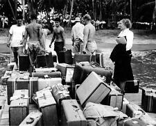 Photo. WW2. 1944. Porters Helping Navy Nurses Arriving on Guadalcanal
