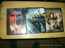 (3) DVD's X-men -First Class, StarMan, Lord of the Rings -Return of King