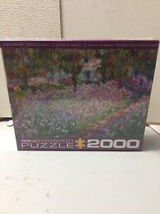 2000 piece jigsaw puzzle Monet's garden Claude Monet