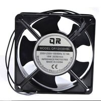 For 1pc QR12038HBL Metal cooling fan 220V 18W 0.14A