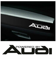 x2 AUDI Powered by Dashboard Car Decals Logo Stickers Graphics Hood All Models