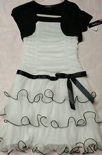 Amy wear girls 12 black /white ruffled dress