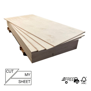 Birch Plywood Sheets Ply Boards Grade BB/BB CUT TO SIZE- 9mm,12mm,15mm,18mm,24mm