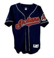 Vintage Russell Diamond Collection Cleveland Indians MLB Baseball Jersey Mens 48