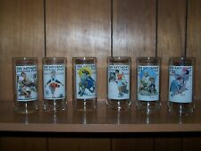 Norman Rockwell Saturday Evening Post Arby's Collector's Series Glasses Set Of 6