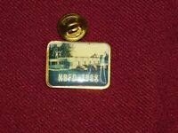 VINTAGE PIN PINBACK NBFD 1988 FIRE DEPARTMENT