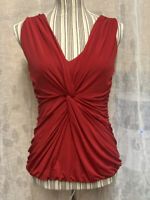 Coast Runched Serena Scarlet Red Bodycon Party Top Size 12 U.K. New