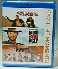 New Butch Cassidy Sundance Kid Good Bad Ugly Magnificent 7 (Blu-ray Disc, 2012)
