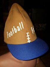 RARE Vintage Football Shaped Fanatic Snapback Hat Funny Fantasy Draft Joke