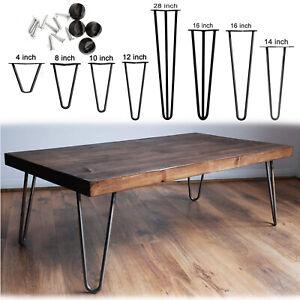 4 x Hairpin Legs / Hair Pin Legs Set for Furniture Bench Desk Table Metal Steel