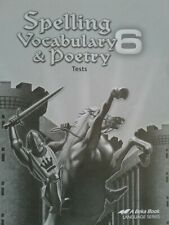 Spelling Vocabulary & Poetry 6 Tests, A Beka Language Series, New!