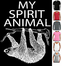 Funny T-Shirts Sloth My Spirit Animal Mens tee Ladies tshirt Sloth t shirt retro