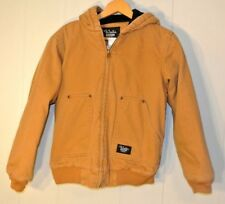 Walls Blizzard Pruff Carmel Cotton Canvas Zip Front Hoodie Youth XL 16-18 Jacket