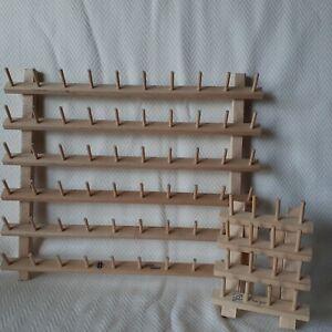 June Tailor Wooden Thread Holder & Bobbin Rack- 60 Spools & 32 Bobbins