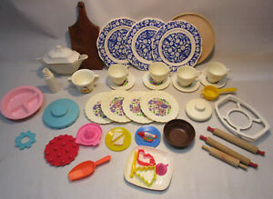 Large Vintage Children's Play Set Dishes Lot