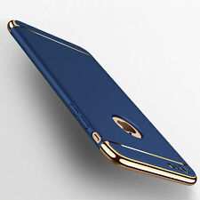 Handy Schutzhülle Bumper Backcover iPaky Case schwarz gold Apple iPhone 7 Plus