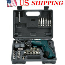 45 in 1 Wireless Cordless Electric Screwdriver Drill Rechargeable Power Tool US