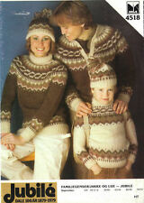 """""""FAIR ISLE""""  PATTERNS LOT OF 3 LEAFLETS YOUR CHOICE-GREAT BUY"""