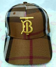 Men Womens Burberry Baseball Cap Adjustable Strap Cotton Brown Golf Hip-hop Hat