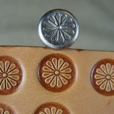 James Linnell - Small Shaded Petal Flower Center Stamp (Leather Stamping Tool)