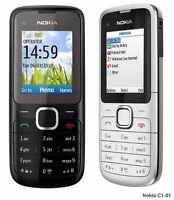Nokia C1-01 Unlocked Camera Bluetooth Mobile Phone boxed