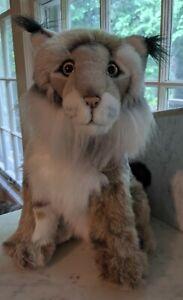 Classic Aurora LYNX ~ Plush Stuffed Animal RARE 1996 w/ TAGS Wildcat Bobcat NICE