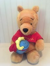 Disney Winnie the Pooh with Rattle Hunny Pot Plush 15""