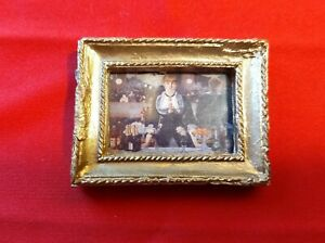 Dollhouse Miniature Handcrafted Gilded Framed Painting 1:12 Scale Manet