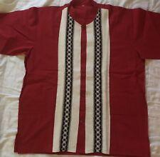 Mens guayabera shirt  Size Large  100% Cotton