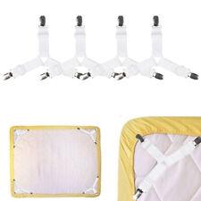 4x Triangle Bed Sheet Holder Clips Mattress Fastener Adjustable Anti-slip Straps