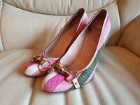 Ladies Gucci Horsebit Bamboo Shoes Heels   UK  4.5   Eu 37.5