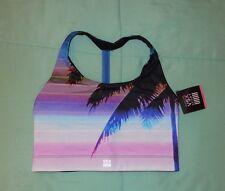 Victoria's Secret The Show-Off Tropical Palm Tree Strappy Back Sport Bra L Nwt