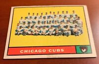 1961 Topps # 122 Chicago Cubs Team Baseball Card