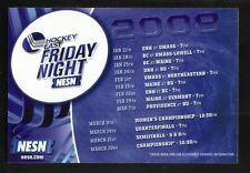 Hockey East--2008 Friday Night Magnet Schedule--NESN