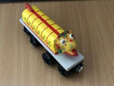Authentic Learning Curve Wooden Thomas Train White Chinese Dragon!