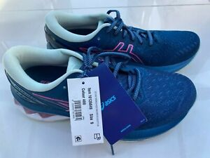 Asics Gel Kayano 27 1012A649 Womens Running Shoes Trainers Blue Pink 40.5 US 9