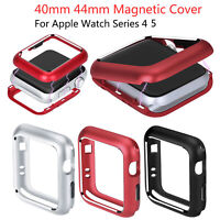 44/40mm Magnetic Cover for Apple Watch Series 4 5 Full Case Protect Shell Bumper