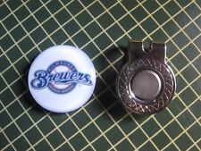GOLF / Milwaukee Brewers Logo Golf Ball Marker/with Magnet Hat Clip New!!