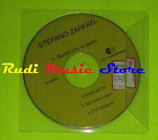 CD Singolo STEFANO ZARFATI Quello che io sento PROMO 1999 italy RTI mc dvd (S9)