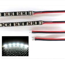 BRIGHT WHITE LED FOOTWELL LIGHTING 2x20CM STRIPS - DOUBLE DENSITY BRIGHTER