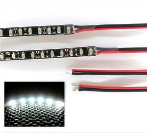 BRIGHT WHITE LED FOOTWELL LIGHTING STRIPS - DOUBLE DENSITY - 4 STRIP MAXI KIT