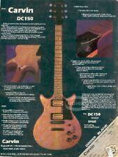 vintage CARVIN GUITAR AD magazine PINUP DC150 1980