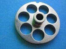 "#22 x 3/4"" w/ HUB Meat Food Grinder Plate Disc Hobart Cabelas LEM Weston MTN etc"